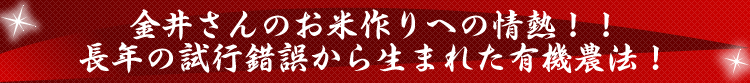 金井さんのお米作りへの情熱!!
