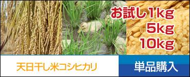天日干し米コシヒカリ 通常購入