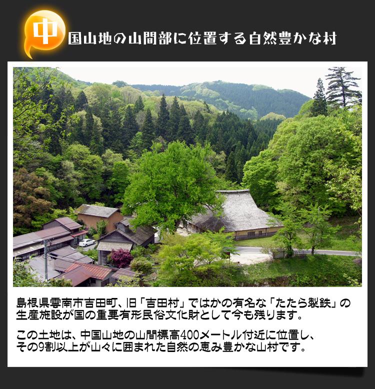 中国山地の山間部に位置する自然豊かな村